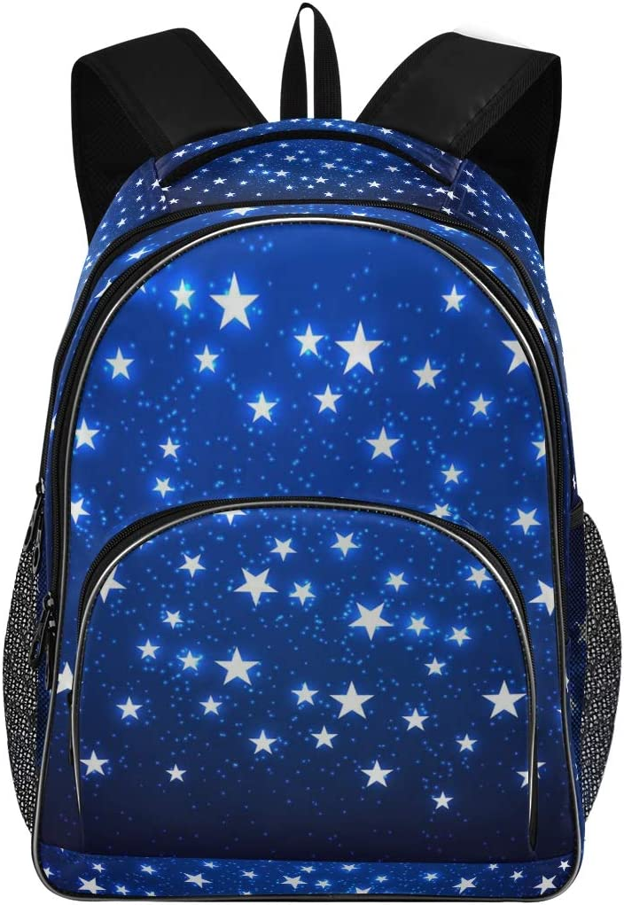 Laptop Backpack for Laptop Up to 15.6 Inch Men Women Student Travel Outdoor School College Bags Bookbag Blue Star Backpack