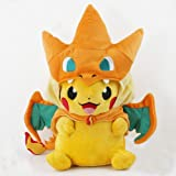 Peluche Pikachu Dracaufeu Grand Modèle Version Colère - Edition Limité & Exclusive Pokemon Center Tokyo (Import Japon - Produit Officiel)