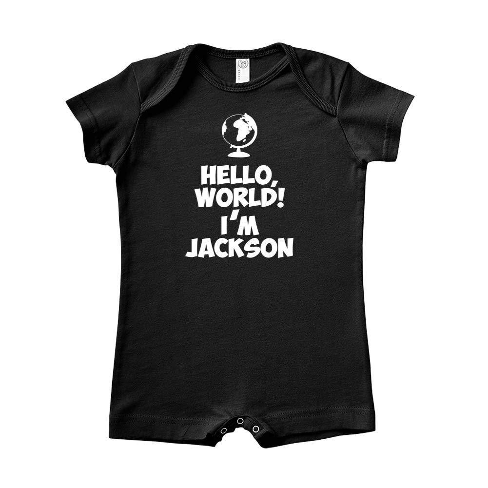 Hello World Personalized Name Baby Romper Im Jackson
