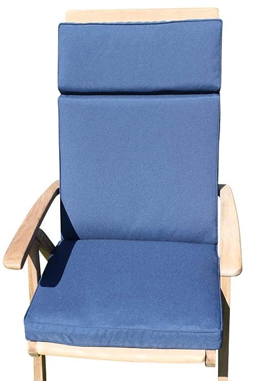 Cojín para muebles de jardín - Cojín con respaldo para silla ...