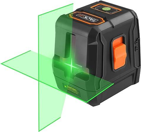 TACKLIFE Nivel Láser Verde 30m, Nivel Laser Autonivelante, Doble Láser Módulo Línea Vertical, Líneas Cruzadas, IP54, Modo de Bloqueo, Soporte Magnético, Bolsa Acolchada y Batería Includa - SC-L07G