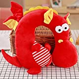 LUCKSTAR U-Shaped Pillow - Soft & Small Cartoon Neck Pillow Comfortable Travel Pillow Animal Travel Neck Pillow Plush Toy Provides Relief and Support for Neck Pain Suit for Travel, Home (Red Dragon)