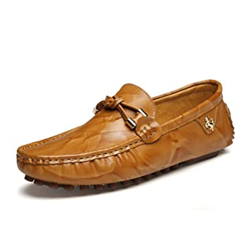 Zapatos de Hombre Mocasines y Slip-Ons de Cuero 2018 Primavera/Verano / Otoño Comodidad/Diario / Mocasines al Aire Libre/Zapatos para Caminar/ Zapatos de ...