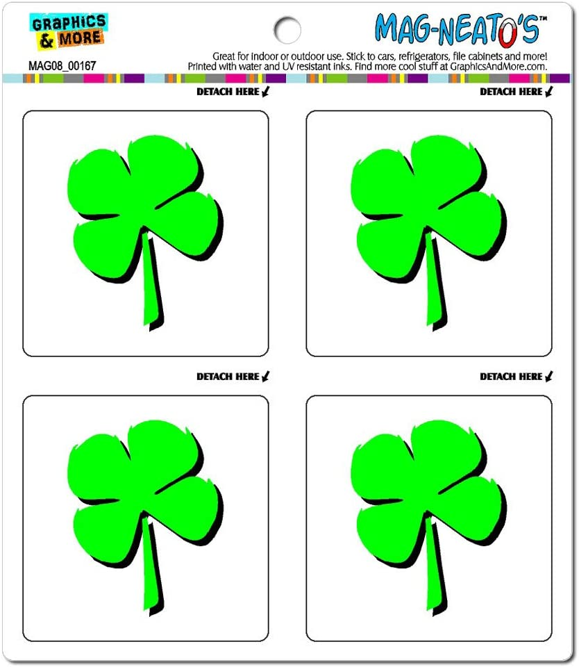 Four Leaf Clover - Irish Luck Automotive Car Refrigerator Locker Vinyl Magnet Set
