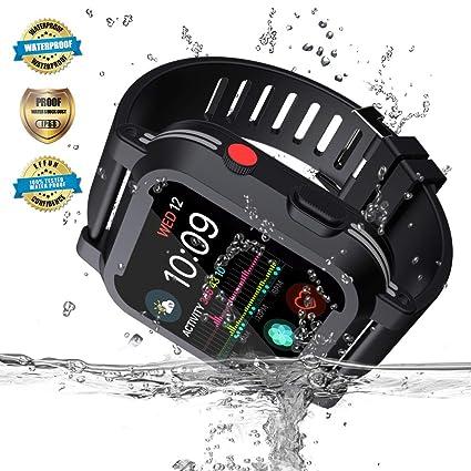 Amazon.com: Apple Watch Waterproof Case for 44mm Apple Watch ...