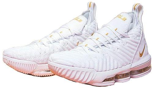 Lebron James 16 XVI White Golden Zapatos de Baloncesto para Hombre: Amazon.es: Zapatos y complementos