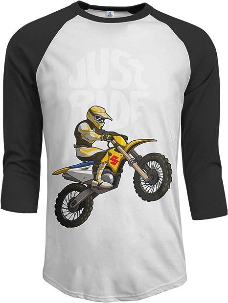 Good4Yours Simplemente Montar Camisa de Verano Camisas Casuales de Manga Media para Hombre Camisa Fresca Suelta: Amazon.es: Deportes y aire libre