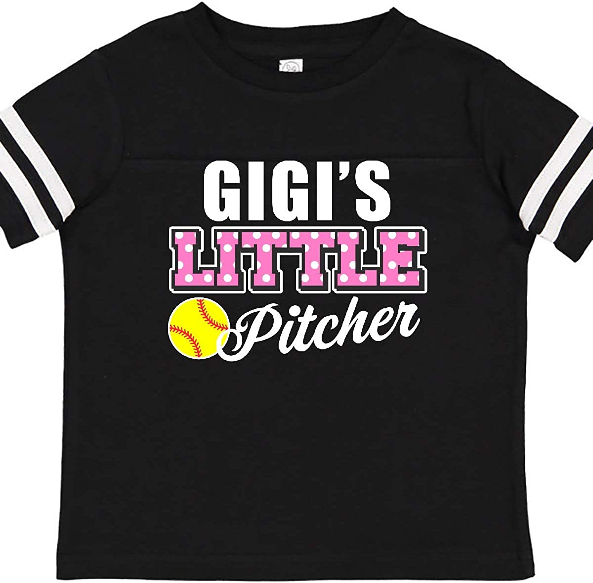 inktastic Gigis Little Pitcher Softball in White Toddler T-Shirt