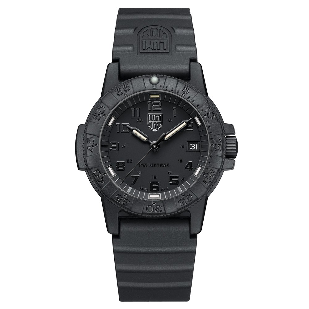 Luminox Leatherback Sea Turtle 0300 series Watch with carbon compound Case Black|Black Dial and PU Black Strap by Luminox (Image #1)