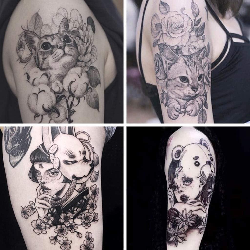 YSYYSH Etiqueta Engomada del Tatuaje De La Flor Linda 4pcs ...