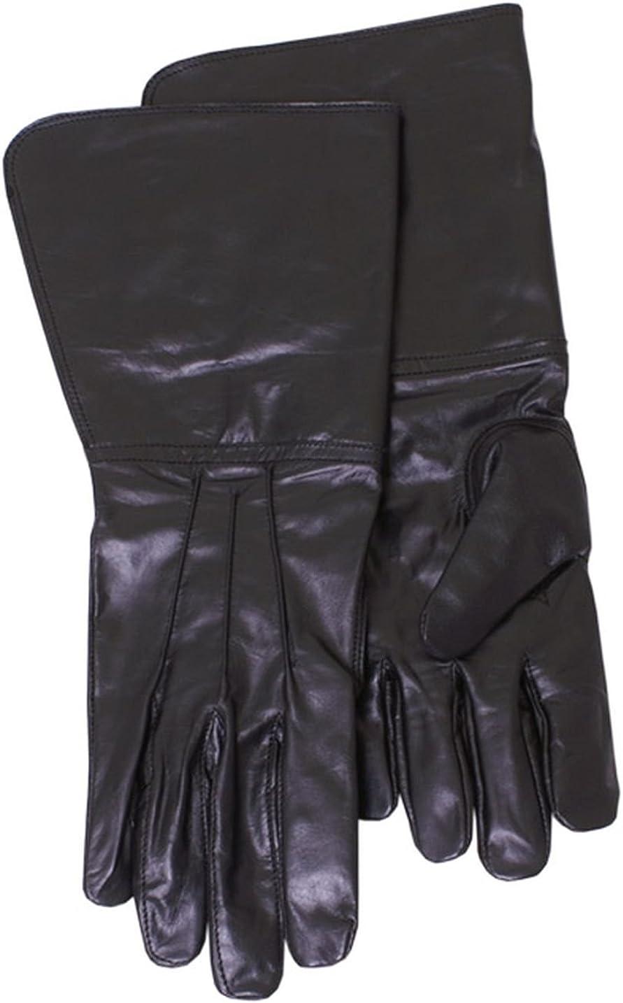 Handschuhe schwarz Damen Leder lang Larp Mittelalter