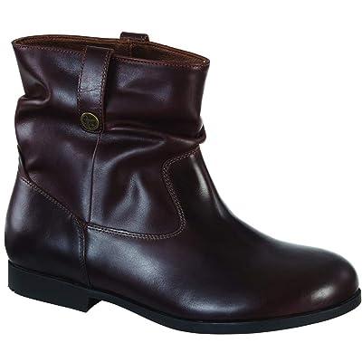 Birkenstock Womens Sarnia Boot, Espresso, Size 38 EU (7-7.5 M US Women) | Ankle & Bootie