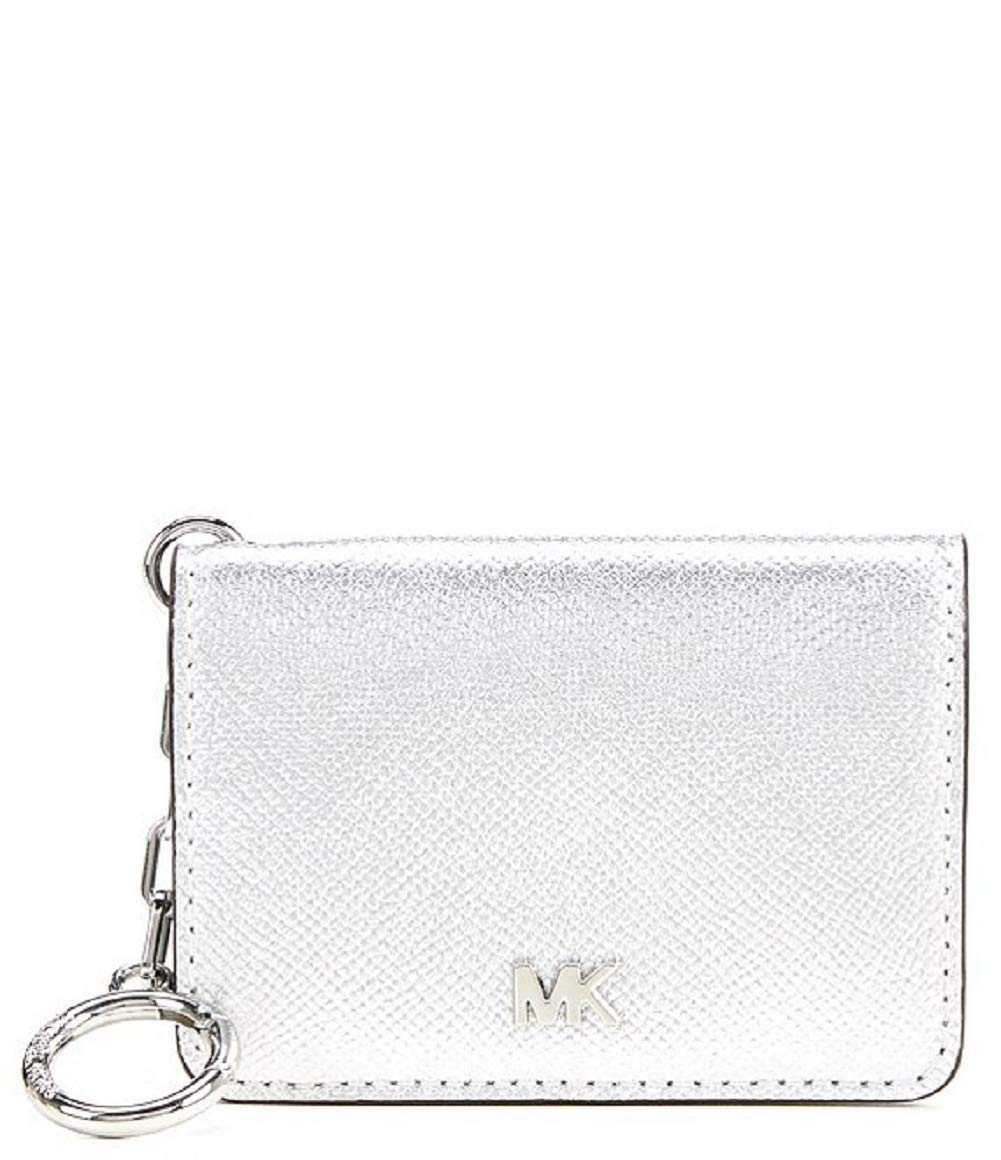 MICHAEL Michael Kors Women's Key Ring Card Holder Silver