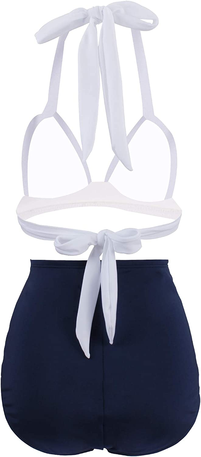 TFENG Womens Vintage Twist Bikini Sets with Bottom Two Piece Swimsuits Bathing Suit