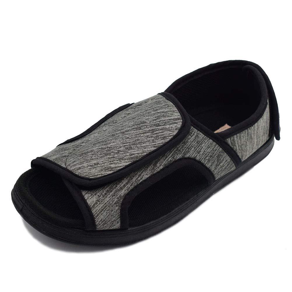 f3c91fa8c3e9b Amazon.com   W&Lesvago Women's Open Toe Adjustable Diabetic Sandals ...