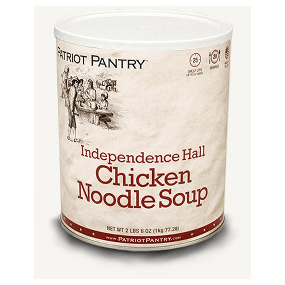 Patriot Pantry Independence Hall Chicken Noodle Soup (20 servings) #10 Can Bulk Emergency Storage Food Supply, Up to 25-Year Shelf Life