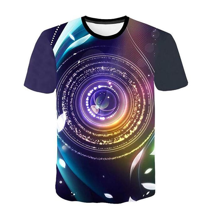 3db4b3454d81 T-Shirt 3D Stampa Uomo Manica Corta Divertenti strane Casual Moda Fashion  Eleganti taglai Forti Estivo Collo circolari Estate Ragazzo Moderno Slim  Fit: ...