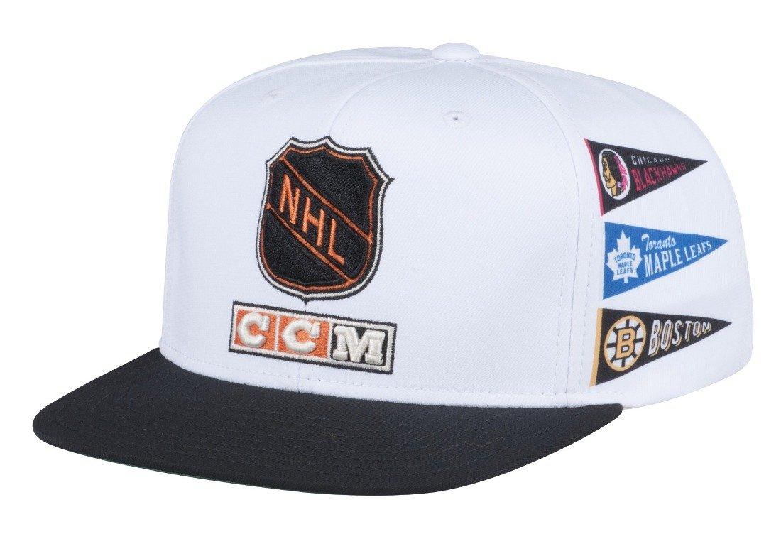 Amazon.com   Original Six CCM NHL Adjustable Flat Brim Snapback Hat    Sports   Outdoors 4cc54447c54