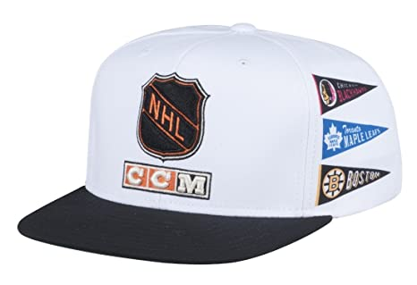 Image Unavailable. Image not available for. Color  Original Six CCM NHL  Adjustable Flat Brim Snapback Hat 9a46cc4506b6