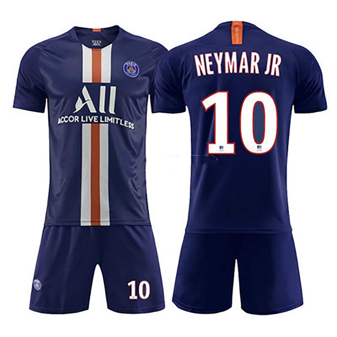 Football Sportswear 19-20 Season Paris Home and Away Football Uniform Suit 7.Mbapp/é 10.WEYMAR IR Sports t-Shirt Sports Shorts