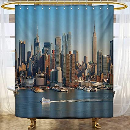 New York Shower Curtain Empire State Building Print for Bathroom