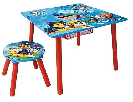 Fun house pat patrouille tavolo quadrato con scomparto sgabello