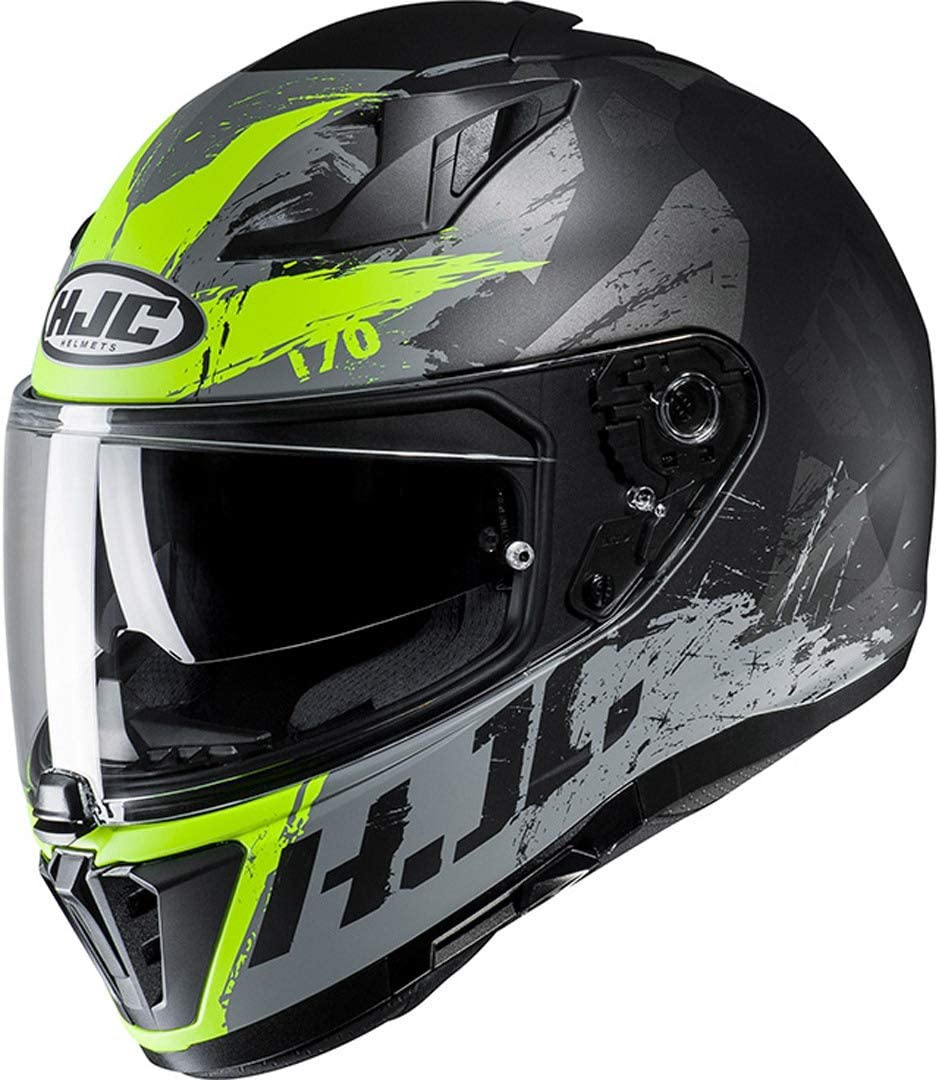 M Adultos Unisex HJC I70 Cascos RIAS Black//FLO Green