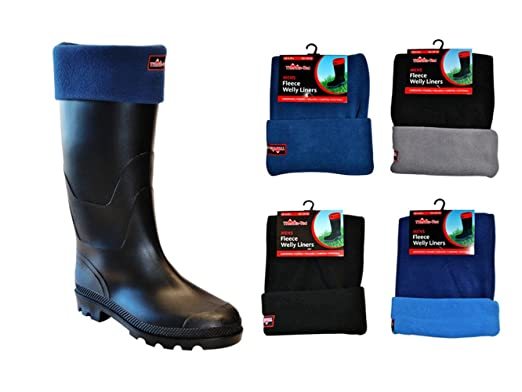 Ladies Mens Wellington Boot Fleece Socks Welly Liners Wellie Festival Camping