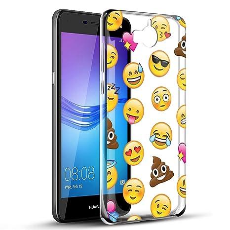 b602da6c1b1853 Eouine Coque Huawei Y6 2017, Etui en Silicone 3D Transparente avec Motif  Fun Fantaisie Dessin