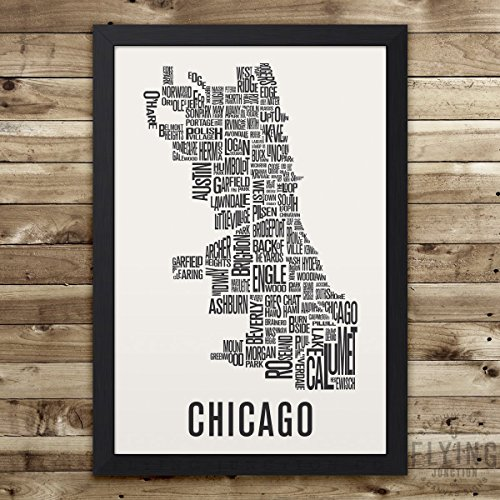 Chicago Neighborhood Map Print