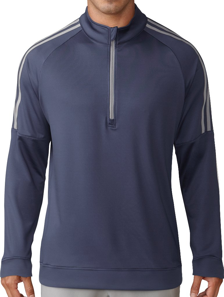 adidas Golf Men's Classic 3-Stripe 1/4 Zip Pullover, Trace Purple, Small