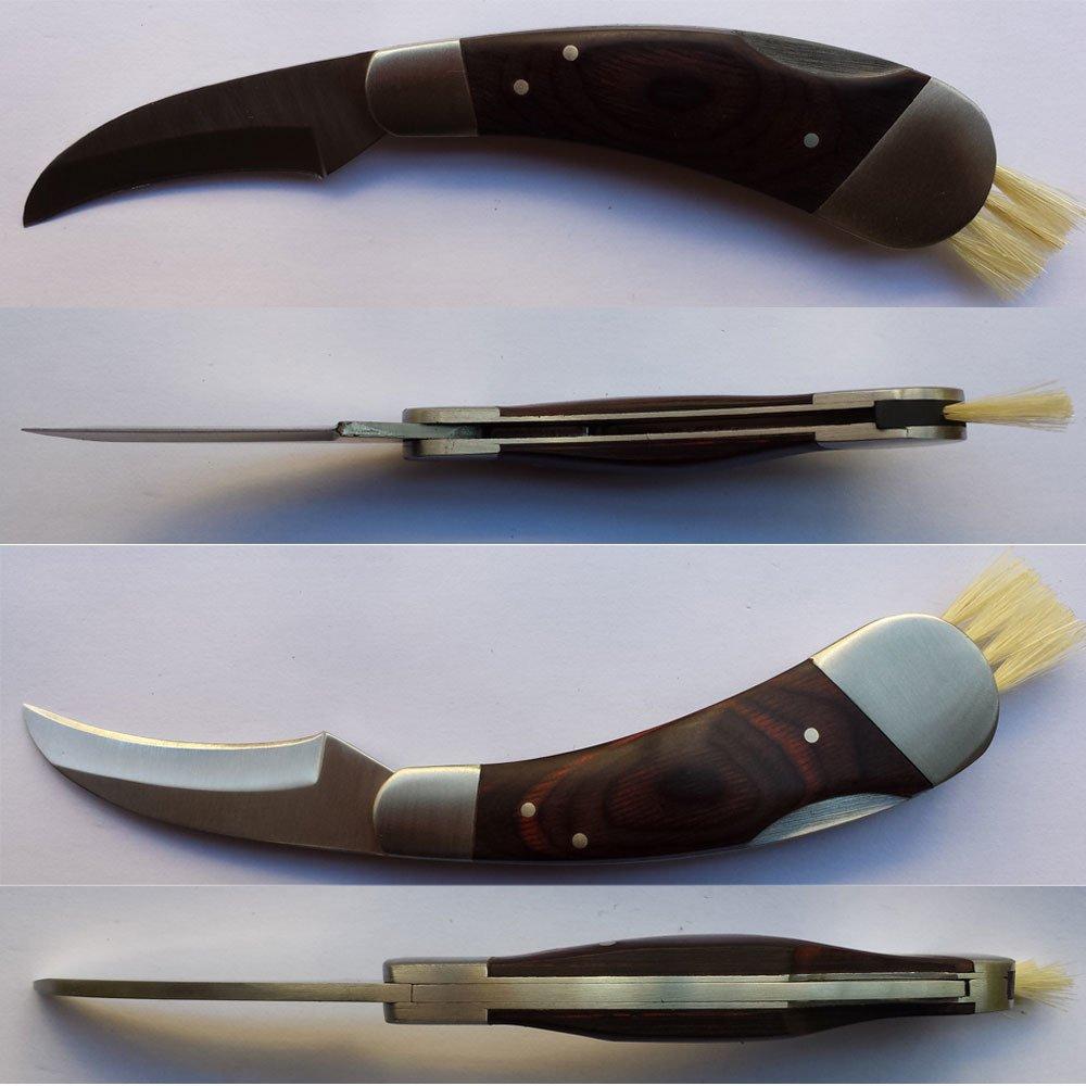 Classic Outdoors Folding Lock Mushroom Knife Fungus Truffles Harvest Hunting Sharp Knives with Neoprene Pouch by HANZIUP (Image #4)