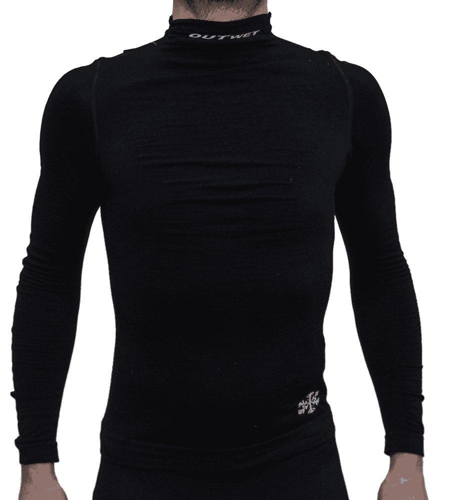 Outwet Funktionsshirt Langarm WP3 Merino schwarz