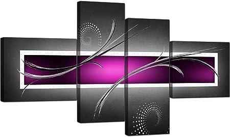 Lienzo Multipanel Moderno en Cuatro Partes,Estirado y Enmarcado - Listo y fácil de colgar,Tamaño Gen