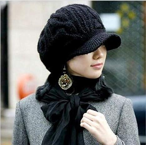 Maerye Fashion Felt Pu Leather Beret Hat Women Cap Female Ladies Beanie Beret Girls