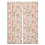 Autumnal Star Bingo Curtain: Long Window Treatment Set of 2 Panels for Living Room Bed Room
