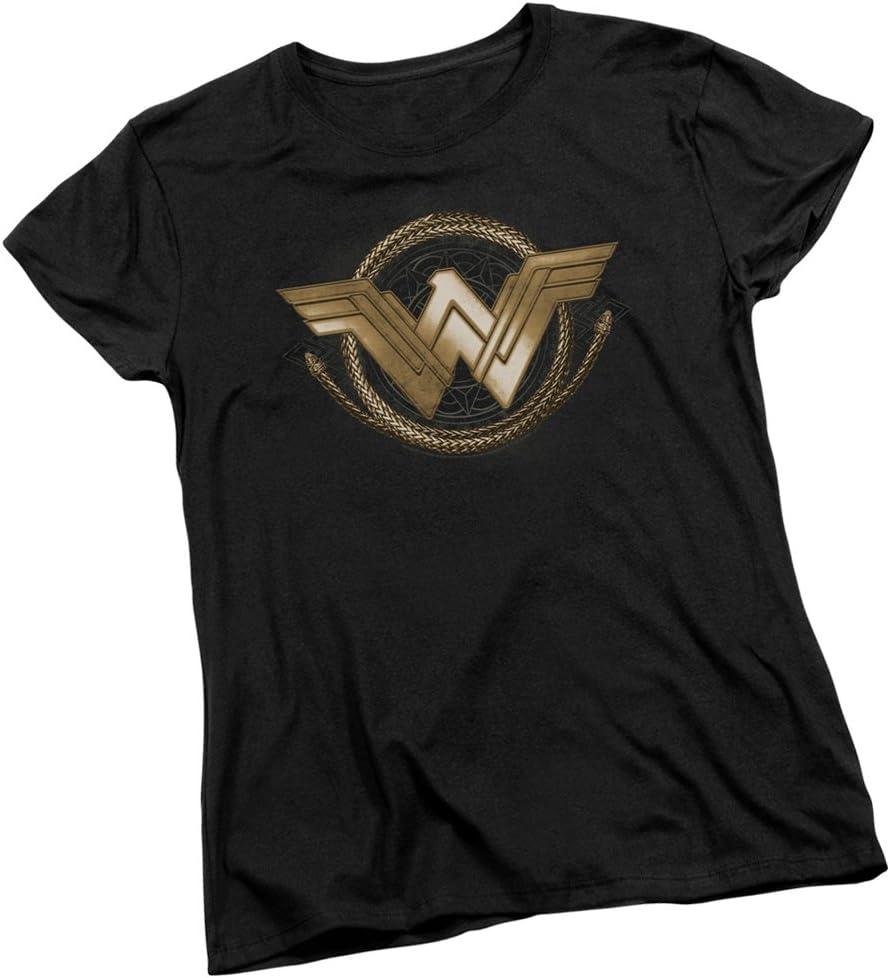 Lasso Logo - Wonder Woman Movie Women's T-Shirt, X-Large Black