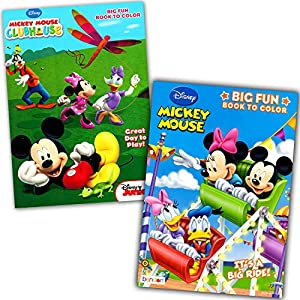 Amazoncom Mickey Mouse Clubhouse Coloring Book Set 2 Books