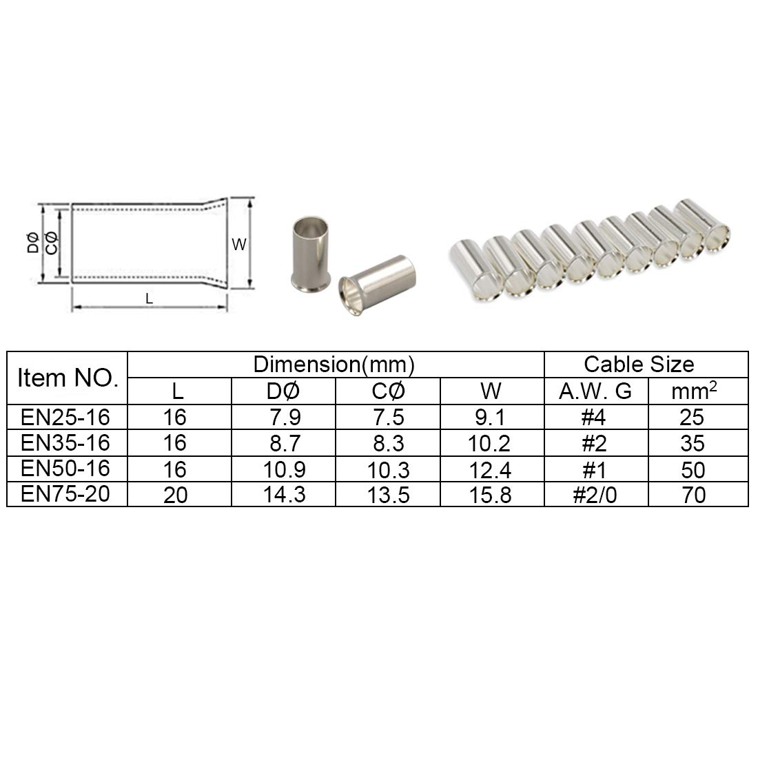 Gold 18-16 AWG 0.205 inch Female Disconnect Parts Express