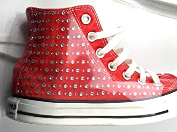 Attaccare strass a scarpe Converse crystal all star sneakers