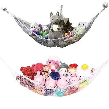 Hanging Toy Hammock Net Stuffed Jumbo Animals Organizer Storage Organizer  US