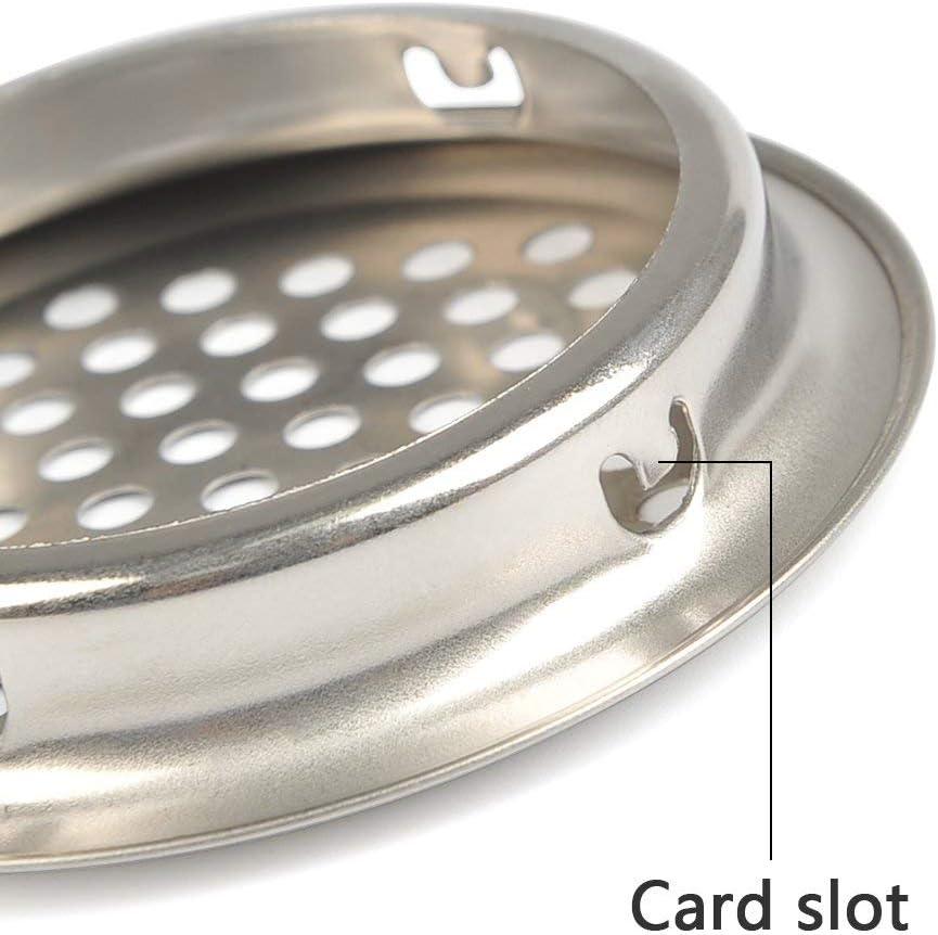 20 pi/èces Grille de Ventilation armoire pour salle de bains armoire bureau /Ø53mm Grille de Ventilation Ronde Acier Inoxydable armoire /à chaussure