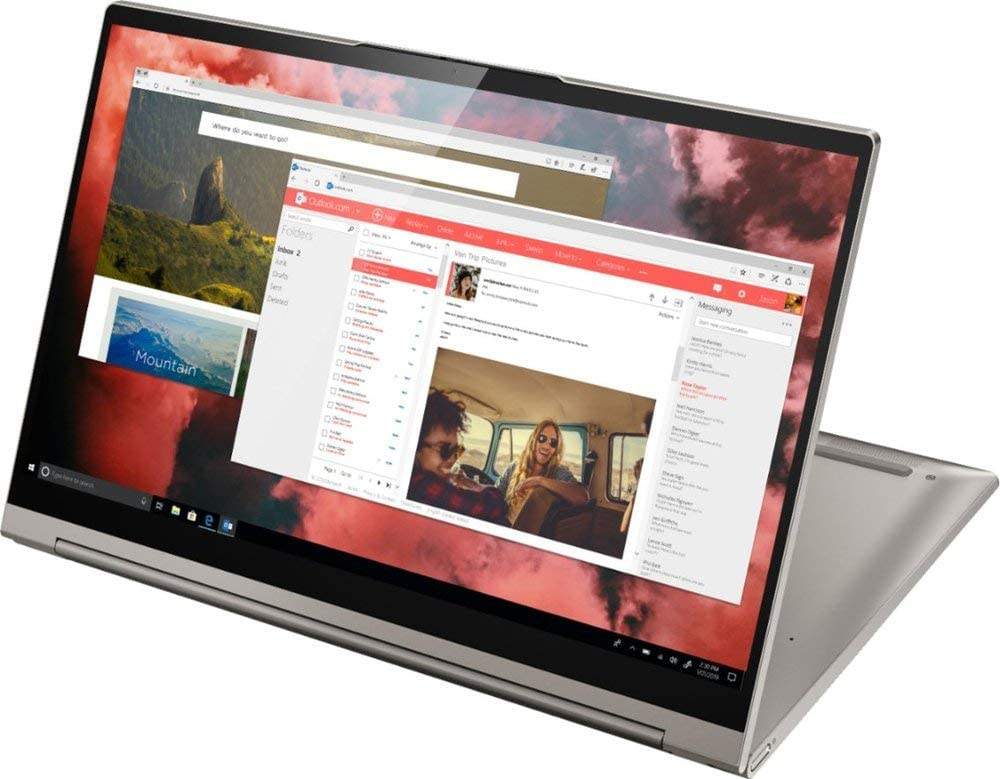 "2020 Lenovo - Yoga C940 2-in-1 14"" 4K Ultra HD Touch-Screen Laptop - Intel Core i7-1065G7 (up to 3.90 GHz) - 16GB LPDDR4 Memory - 1TB SSD PCIe - Fingerprint Reader - Active Pen -Mica"