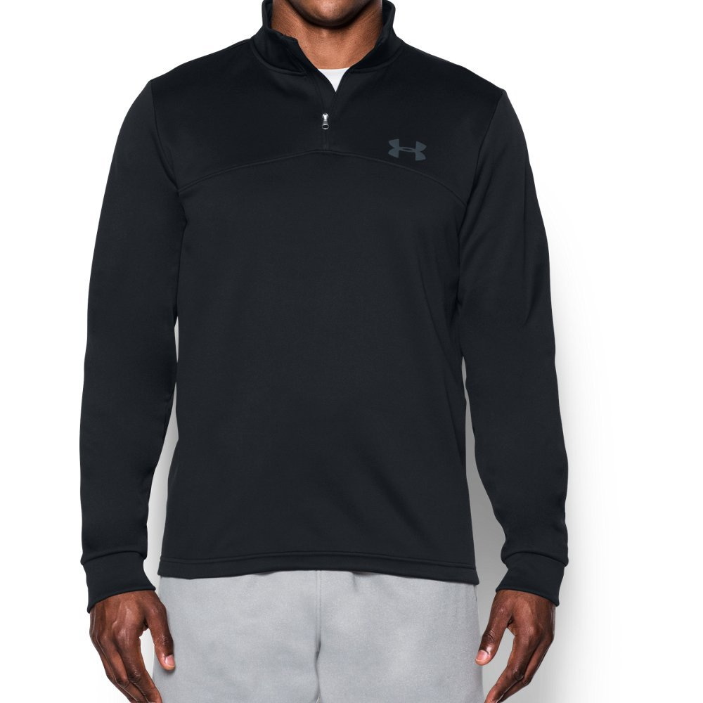 Under Armour Men's Storm Armour Fleece 1/4 Zip, Black (001)/Graphite, Small by Under Armour (Image #1)