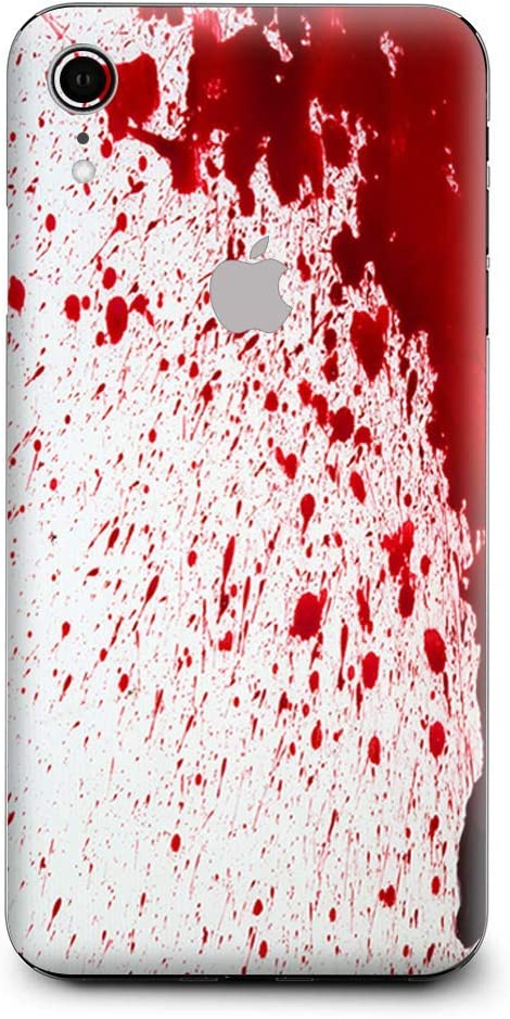 Skin Decal Vinyl Wrap for Apple iPhone XR | Phone Stickers Skins Cover| Blood Splatter Dexter