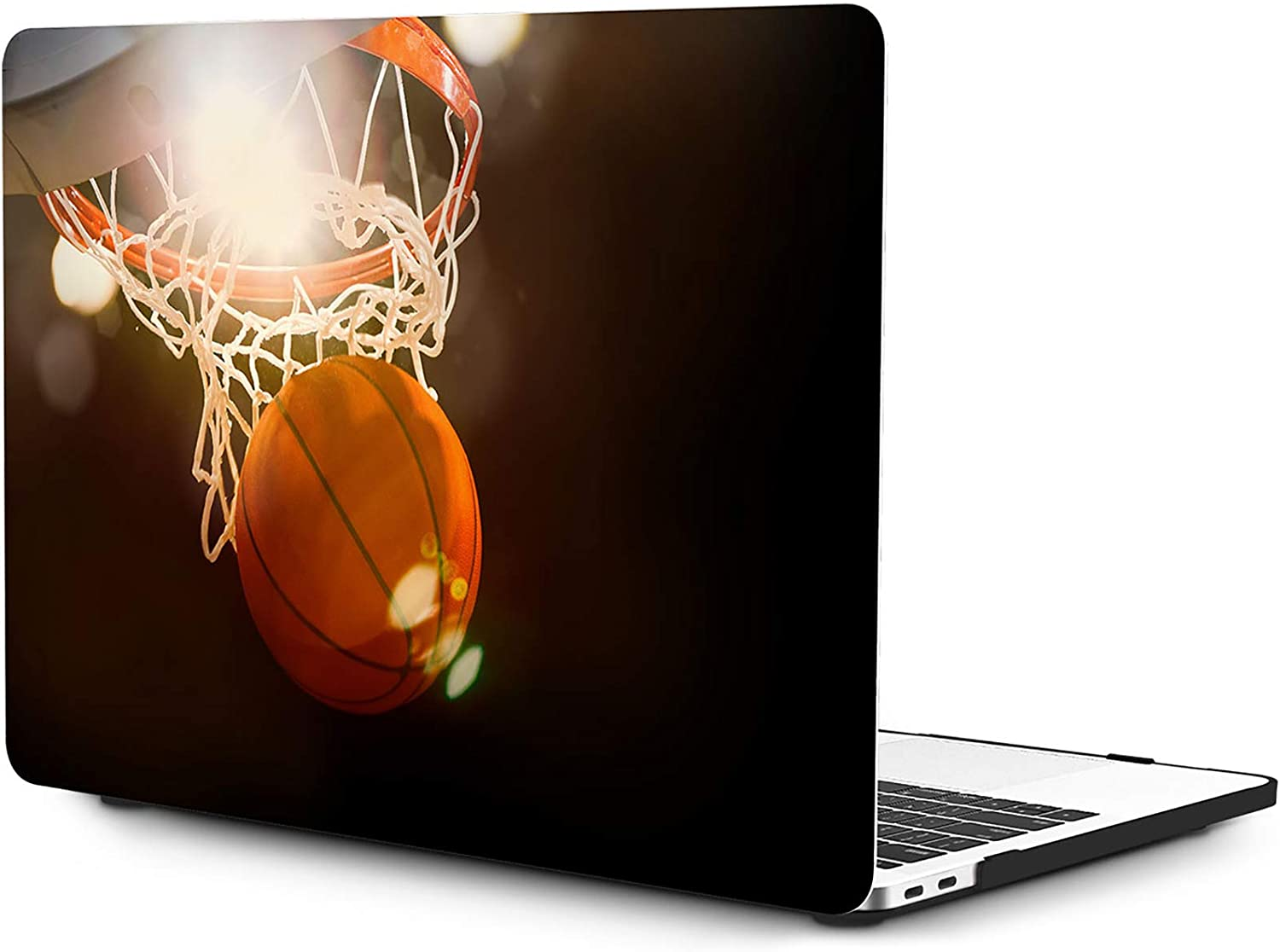 OneGET Laptop Case for MacBook Air 13 Inch Case 2018 MacBook Air 13 inch Release A1932 with Retina Display Computer Case Hard Shell MacBook Air 13 Case with Touch ID Basketball (S29)