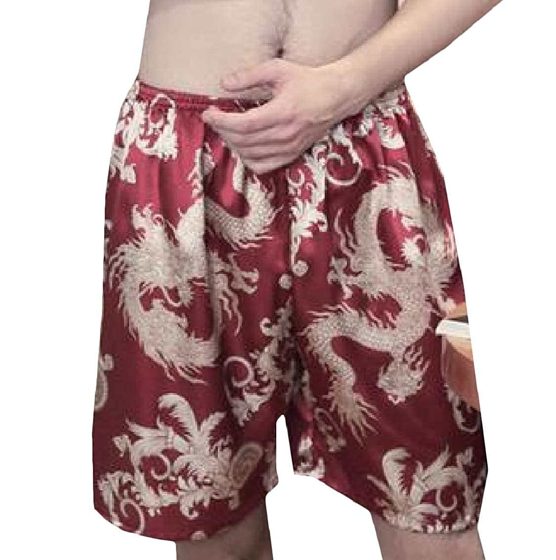 Freely Mens Relaxed-Fit Comfort Printed Silk Pajama Sleep /& Lounge Pants
