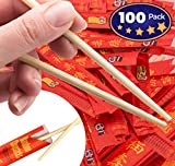 Splinter-Free 9 Eco-Friendly Disposable Bamboo Chopsticks 100 Pack By Avant Grub. Sleeved and Separated For Use In Chinese, Hibachi and Other Asian Restaurants. Include With To Go And Take Out Orders