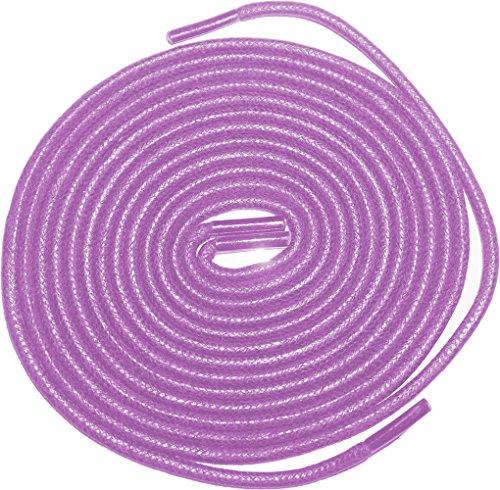 Shoeslulu 20-59 Premium Runt Vaxad Canvas Skosnören Bootlaces Lavendellilor