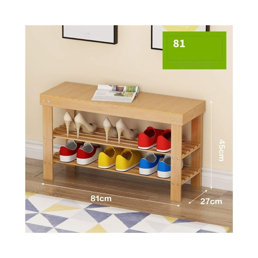 812745cm 2-Story shoes Bench Living Room shoes Rack Bedroom Corridor Stool Storage Rack (Size   88  27  45cm)